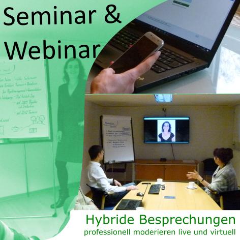 Seminar & Webinar Hybride Besprechungen