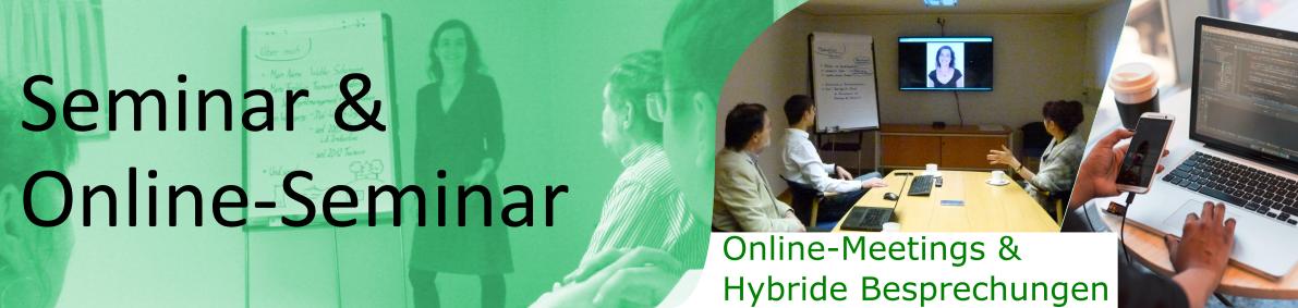 Online-Meetings und hybride Besprechungen